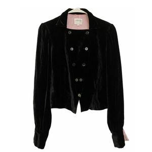 Armani Collezioni Silk Blend Black Velvet Jacket